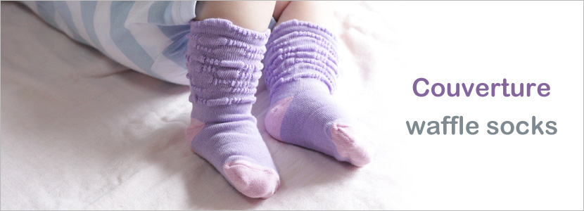 【Couverture】waffle socks